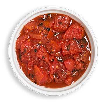 Fire-roasted tomato product