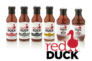 Red Duck ketchup and BBQ suace